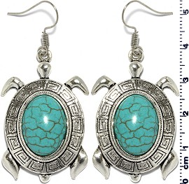 Turquoise Earring Turtle Silver EB393