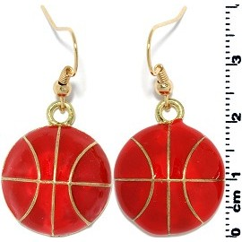 Earring Gold Basketball orange EB400