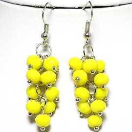 Crystal Silver Yellow Earring EB439