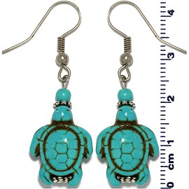 Turquoise Turtle Earring Silver EB495
