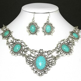 Turquoise Necklace Earring FNE1053