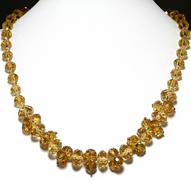 Crystal Necklace Gold FNE200