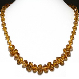 Crystal Necklace Dark Gold FNE201
