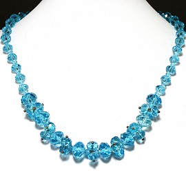 Crystal Necklace Turquoise FNE203