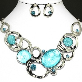 "20"" Necklace Earring set FNE384"