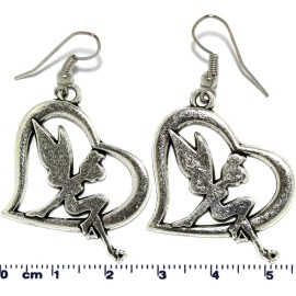 Fairy Heart Silver Earring GER578