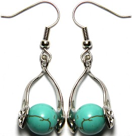 Stone Earrings Earth Turquoise Beads GER745