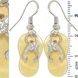 Flip Flops Earth Stone Earrings Silver Gold Ger1337
