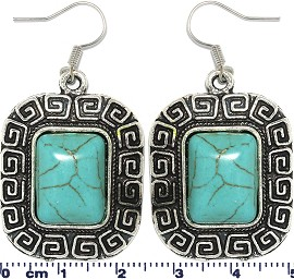 Turquoise Earring Square Ger1746