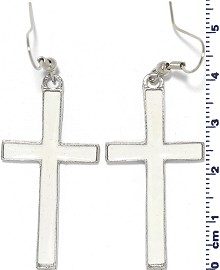 Earring Cross White Ger1752
