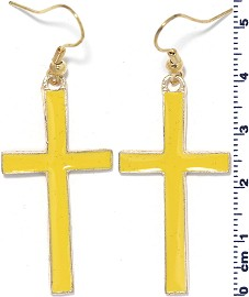 Earring Cross Yellow Ger1755
