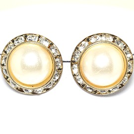 Pearl Round Earring White Gold Ger1781