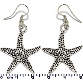 Earring Silver Starfish Ger2087