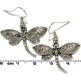 Earring Silver Dragonfly Ger2094