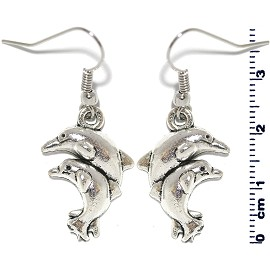 Earring Silver Double Dolphin Ger2105