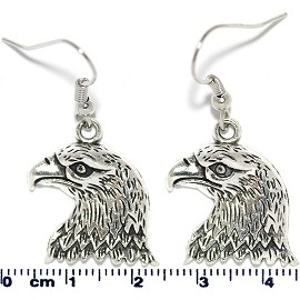 Earring Eagle Head Silver Ger2119