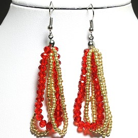 Earring Crystal Red Gold GER2141