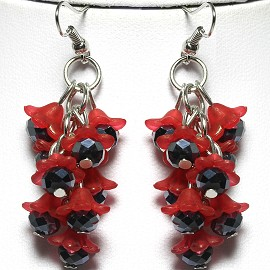 Earring Crystal Red Black GER2172