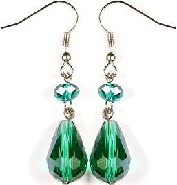 Crystal Earrings Tear Green Ger260
