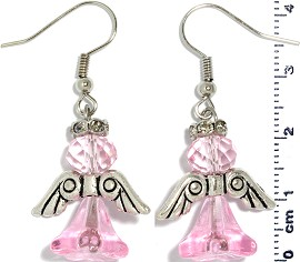 Crystal Earrings Angel Pink Ger475