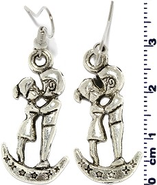Kissing Silver Earring Ger539