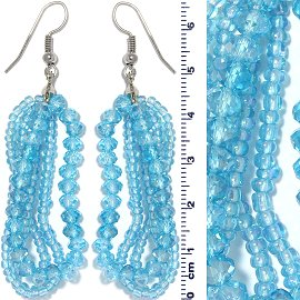 Crystal Bead Earring Turquoise Ger677