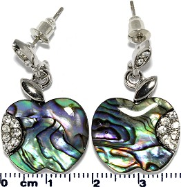 Abalone Earring Apple Ger755