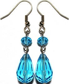 Crystal Earrings Tear Turquoise Ger863
