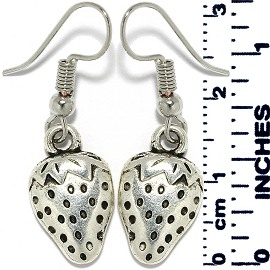 Earrings Strawberry Metallic Silver Tone Ger874