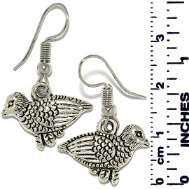 Earrings Bird Metallic Silver Tone Ger877