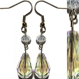 Crystal Earrings Clear Aura Ger934