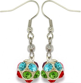 Crystal Earrings Rhinestone Ball Multi Color Ger956