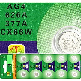 10pcs Watch Battery Batteries AG4 626A 377A CX66W HD02