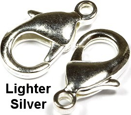 50pcs Lobster Claw Silver Jewelry Part JF011