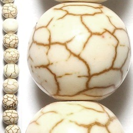 40pcs 10mm Spacers Earth Beads Cream JF017