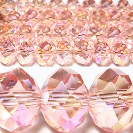 70pcs 10mm Spacers Crystal Beads Peach JF030