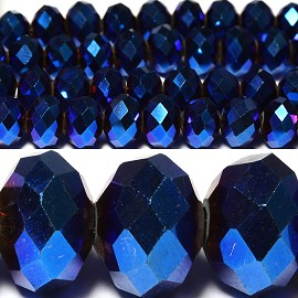 70pcs 10mm Spacers Beads Aura Borealis Navy Blue JF034