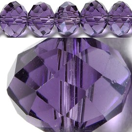 70pcs 8mm Spacers Crystal Oval Bead Purple JF343