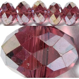 70pcs 8mm Spacers Crystal Beads burgundy Aura JF063