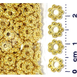 250pcs 6mm 7beadstar Spacer Gold JF082