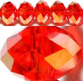 100pcs 6mm Spacers Crystal Beads Red Aura JF089