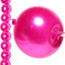 100pc 8mm Faux Pearl Bead Spacer Light Magenta JF1068