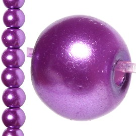 100pc 8mm Faux Pearl Bead Spacer Purple JF1062
