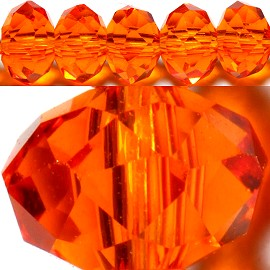 150pcs 4mm Spacers Crystal Beads Orange JF111