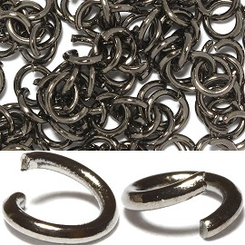 150pc 5mm Metal Links Dark Gray JF1138