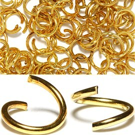 75pc 8mm Metal Links Gold JF1140