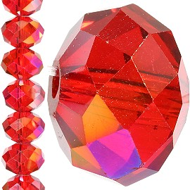 70pc 12mm Crystal Bead Spacer Red Aura JF1245