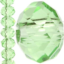 150pc 4mm Crystal Bead Spacer Light Green JF1263