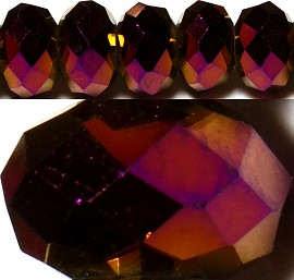 100pcs 6mm Spacers Crystal Beads Purple Dark aura JF127