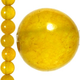92pc 5mm Quartz Bead Spacer Gold Dark Yellow JF1288
